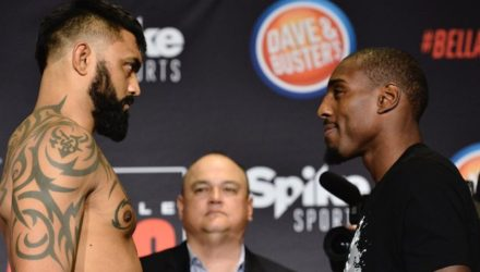 Bellator 163 Weigh Ins Liam McGeary vs Phil Davis