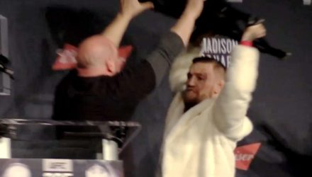 Conor McGregor UFC 205 chair slam