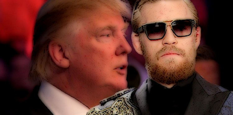Donald Trump and Conor McGregor