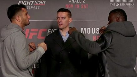 Gegard Mousasi vs Uriah Hall - UFC faceoff