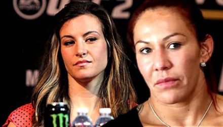 Miesha Tate and Cris Cyborg