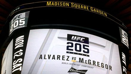 UFC 205 Madison Square Garden marquee