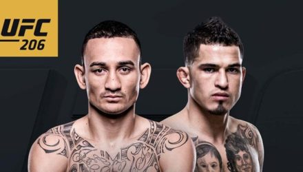 UFC 206 Holloway vs Pettis Fight Poster