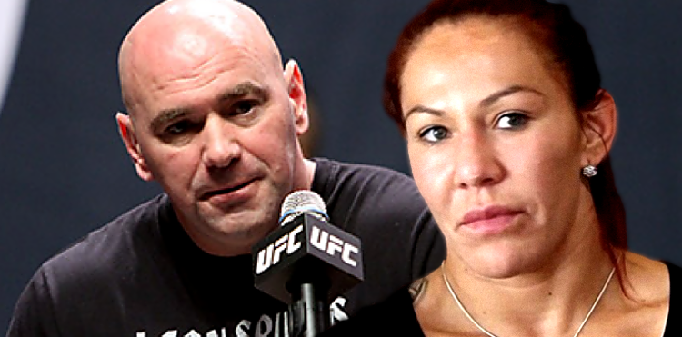 Dana White and Cris Cyborg