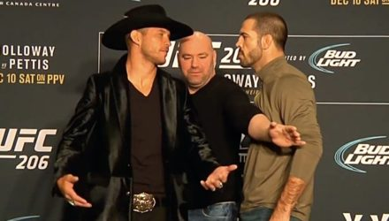 Donald Cerrone vs Matt Bronw faceoff