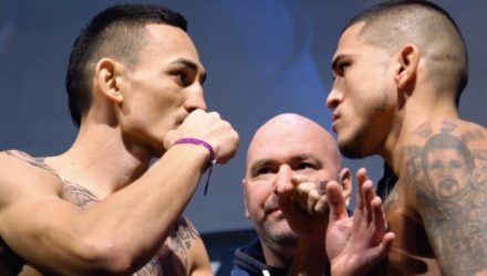 Max Holloway vs Anthony Pettis UFC 206 weigh