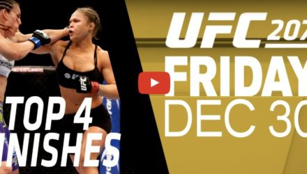UFC 207 Nunes vs Rousey Top 4 Finishes