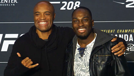 Anderson Silva vs Derek Brunson UFC 208 media faceoff
