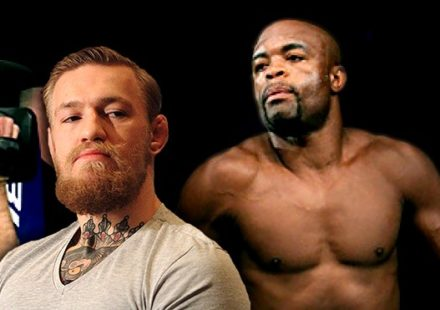 UFC fighters Conor McGregor and Anderson Silva