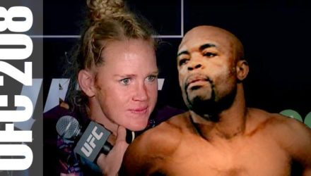 Holly Holm and Anderson Silva - UFC 208