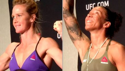 Holly Holm vs Germaine de Randamie weigh-in - Damon Martin