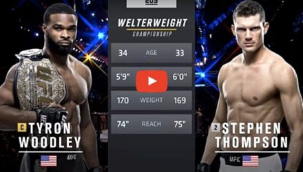 Tyron Woodley vs Stephen Thompson 1 tale of tape