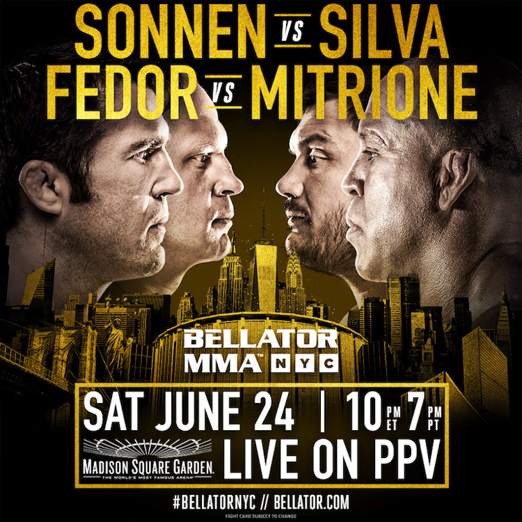 Bellator NYC Silva vs Sonnen Fight Poster