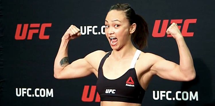 Michelle Waterson UFC on FOX 24 early weigh