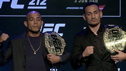Jose Aldo vs Max Holloway UFC 212 with Belts