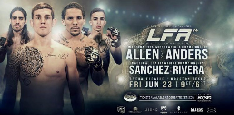 LFA 14 Allen vs Anders Fight Poster