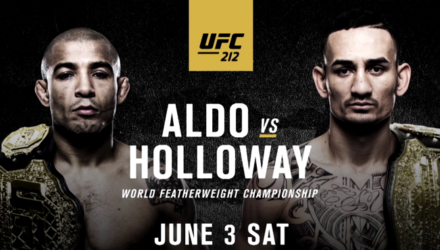 UFC 212 Aldo vs Holloway Fight Poster