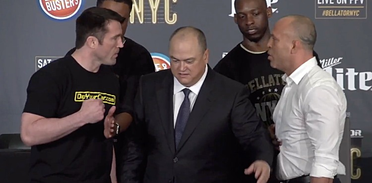 Chael Sonnen and Wanderlei Silva square off
