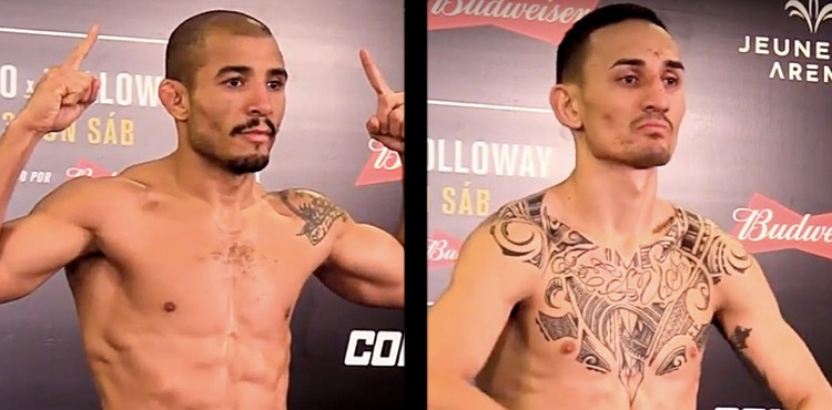 Jose Aldo and Max Holloway UFC 212 weigh-in