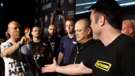 Wandeerlei Silva and Chael Sonnen Bellator NYC weigh-ins