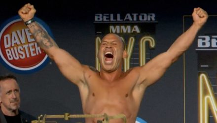 Wanderlei Silva Bellator NYC weigh-in
