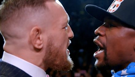 Conor McGregor vs Floyd Mayweather faceoff