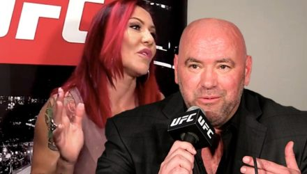 Cris Cyborg and Dana White