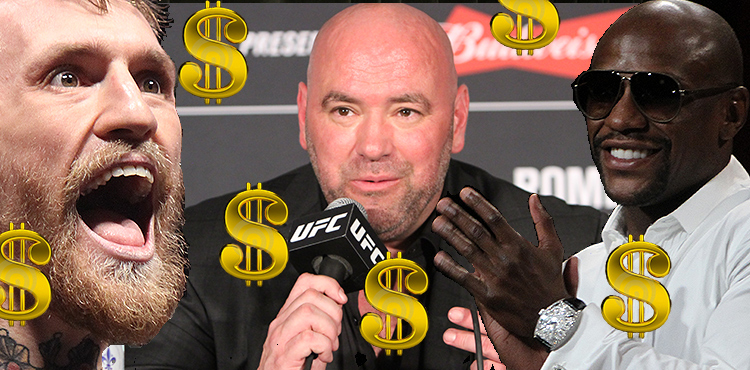 Conor McGregor, Dana White, and Floyd Mayweather