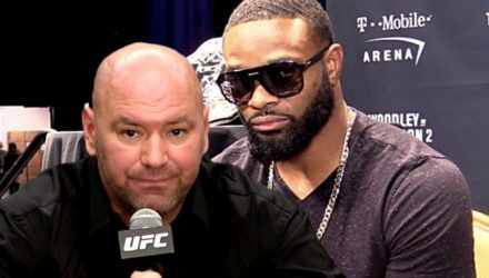 Dana White and Tyron Woodley