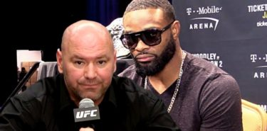 Dana White and Tyron Woodley - serious