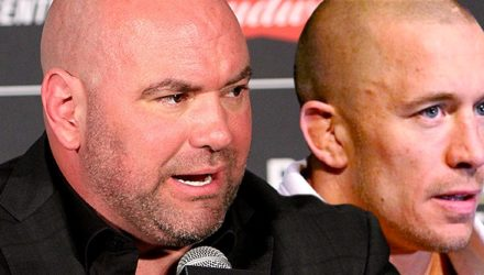 Dana White angry and Georges St-Pierre