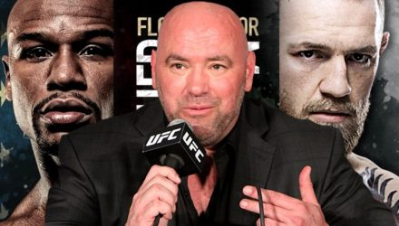 Dana White over Mayweather vs McGregor Tour Poster