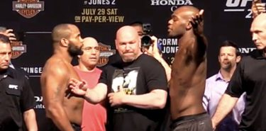 Daniel Cormier and Jon Jones UFC 214 ceremonial faceoff