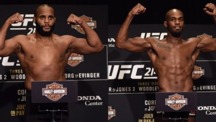 Daniel Cormier and Jon Jones UFC 214 early weigh-in