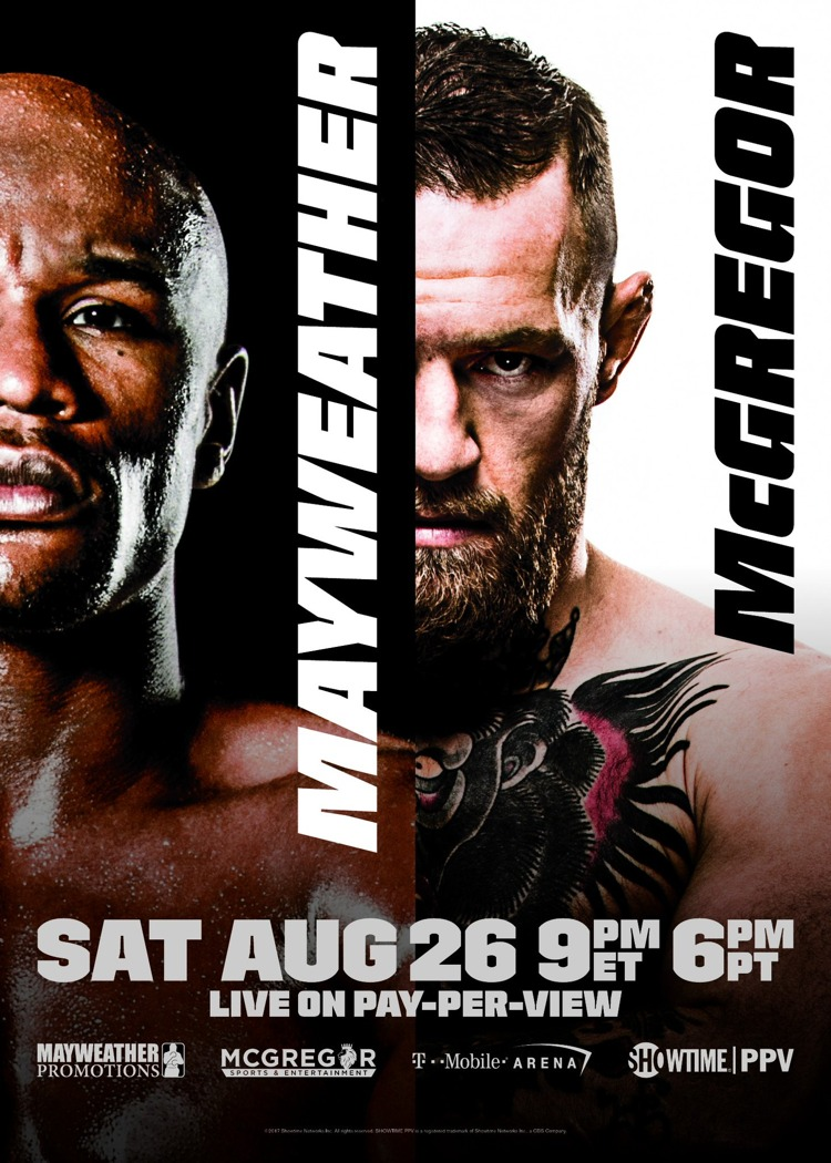 Floyd Mayweather vs Conor McGregor Official Fight Poster