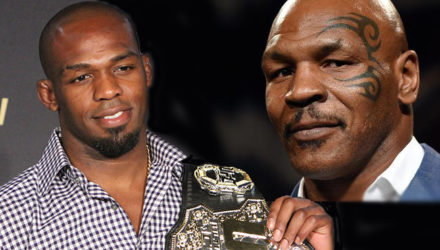 Jon Jones and Mike Tyson