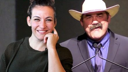 Miesha Tate and Don Frye