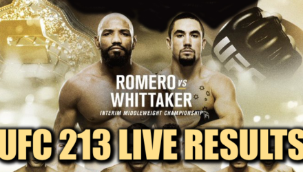 UFC 213 Live Results