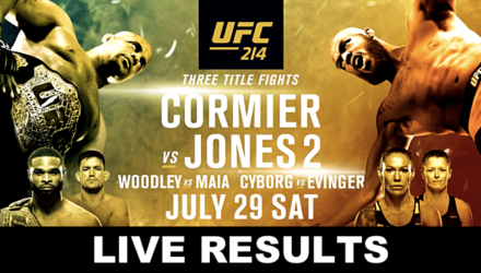 UFC 214 Cormier vs Jones 2 Live Results