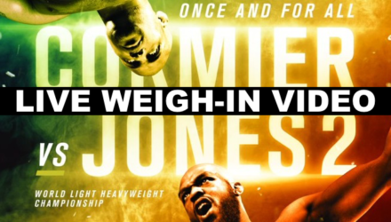 UFC 214 Cormier vs Jones 2 Live Weigh-in Video