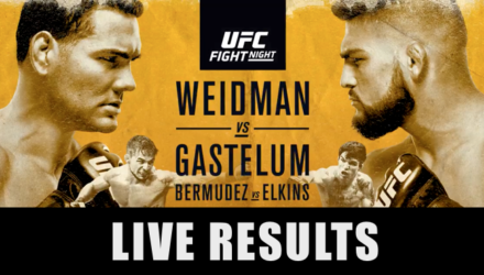 UFC on FOX 25 Weidman vs Gastelum Live Results