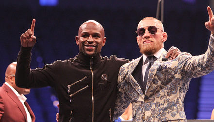 Floyd Mayweather and Conor McGregor - post fight press conference