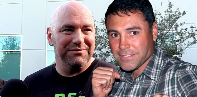 Dana White and Oscar De La Hoya
