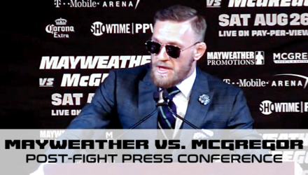 Floyd Mayweather vs Conor McGregor post-fight presser