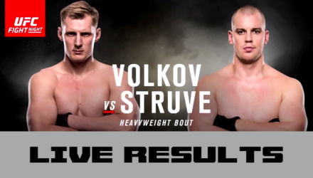 UFC Fight Night Volkov vs Struve Live Results