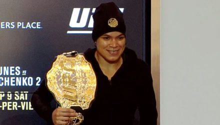 Amanda Nunes UFC 215 Post with belt