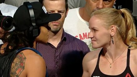 Amanda Nunes vs Valentina Shevchenko UFC 215 weigh face-off