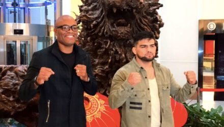 Anderson Silva and Kelvin Gastelum in China - UFC