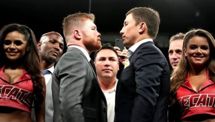 Canelo Alvarez vs Gennady Golovkin face-off HBO