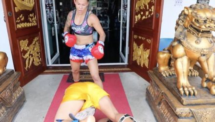 Cris Cyborg comically insane Muay Thai workout